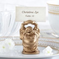 Laughing Buddha Place Card Holders by Beau-coup