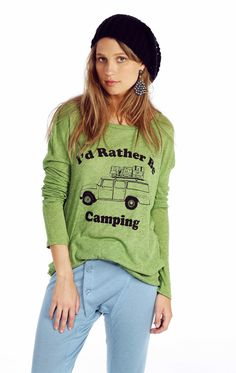 The Wildfox Rather Be Camping Runaway Long-Sleeve Tee