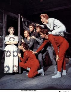 Seven Brides for Seven Brothers. Jane Powell, Russ Tamblyn, Tommy Rall, Jeff Richards