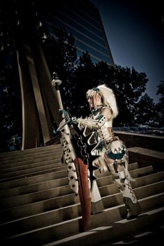 Female Blademaster Barioth Armor From Monster Hunter
