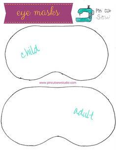 How to make an emoji sleep mask. Kids Eye Mask, Kids Sleep Mask, Cute Sleep Mask, Mask For Kids, Sewing Hacks, Sewing Tutorials, Sewing Projects, Emoji, Sewing For Kids