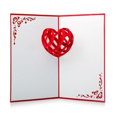 This beautiful 3D pop-up heart card is our original symbol of love. Perfect for Valentine's Day, weddings, or anniversaries! #LovePopHoliday