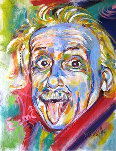 "Saatchi Online Artist yossi kotler; Painting, ""albert einstein"" #art"