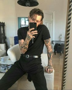 Likes, 12 Comments - Streetwear Inspiration . Mode Masculine, Ootd Men, Moda Blog, Look Man, Mode Inspiration, Tattoo Inspiration, Mode Style, Hot Boys, Cute Guys