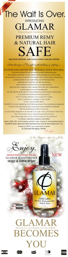 BE-HOLD & SHINE.  TRY #GLAMAR