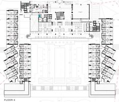 hotel planos Gallery of Yellow Hotel / PLAN Associated Architects - 14 Swimming Pool Plan, Indoor Swimming Pools, Hospital Architecture, Architecture Plan, Arch Hotel, Hotel Floor Plan, Contemporary Building, Hotels And Resorts, Building Design