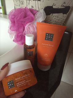 Relax in bath with my favo rituals products