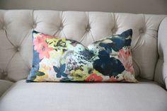 Radiant Floral LUMBAR Designer Pillow Cover 1 by StuckOnHue