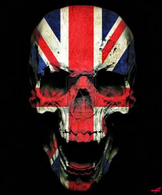 The Royal Skull by on DeviantArt Union Jack Tattoo, England Badge, Picsart, Harry Potter Font, Knight Tattoo, The Lovely Bones, Skull Island, Skull Wallpaper, Photoshop