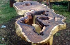 Natural wood cuts can be custom-ordered to create truly one-of-a-kind wooden furniture.