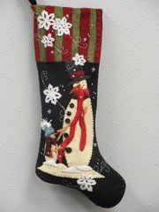 "#209 Me and My Dad  25"" long snowmen stocking pattern"