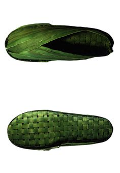 note to self if ever stranded on a desert island? Shoes made from banana leaf!