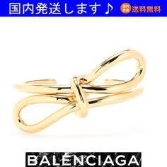 14秋☆ゴールド リボン カフ gold cuff☆バレンシアガ