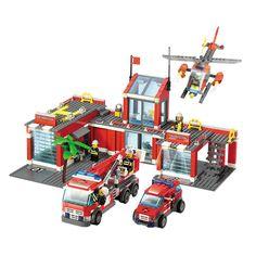 Nueva estación de bomberos de la ciudad 774 unids/set bloques de construcción diy ladrillos educativos niños juguetes compatible con legoe mejores niños regalos de navidad(China (Mainland))