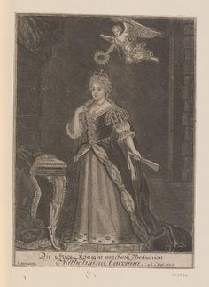 Busch, George Paul (d.1756)  Die jetzige Konigin von Gross=Britannien Wilhelmina Carolina  c.1727-56 Engraving | RCIN 603946