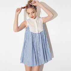 Vintage Style Shirt Dress