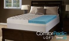 "Groupon - Comforpedic Loft from BeautyRest 4.5"" Gel Memory Foam and Fiber Topper. Groupon deal price: $104.99"