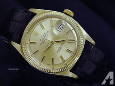 Rolex Datejust President Watch W/leather
