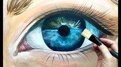 Beginner Learn to paint Realistic Eye in acrylic