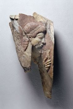 Fragment of a Grave Stele for Brother and Sister 540 BCE - 530 BCE. Athens - Greek. | Altes Museum, National Museums in Berlin
