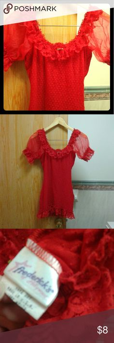 Frederick's of Hollywood Red Lingerie Great Condition Vintage 90s  Tag doesn't have a size but would fit a S or M best Frederick's of Hollywood Intimates & Sleepwear Chemises & Slips