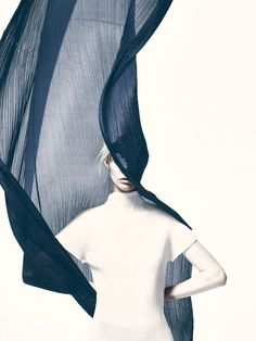 A tribute to the visual collaboration between legendary photographer Irving Penn and fashion designer Issey Miyake.