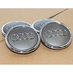 Gray Wheel Center Hub Caps 68mm Emblem Badge Rim Cover for Audi A3 A4 4B0601170A