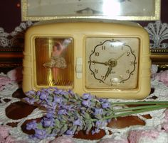 "Vintage Rensie Clock Co. wind up alarm clock and music box. Ballerina turns to the music when you wind it up. ""Oh what a beautiful Morning"". Made in Germany. Adorable!!"