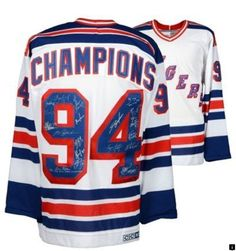 8ac2ee5f8 New York Rangers Steiner Sports Autographed 1994 Champions Jersey with 1994  Cup Patch and Multiple Inscriptions