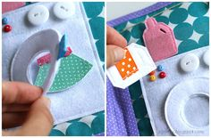 Handmade quiet book Dollhouse, busy book for girl, Развивающая книжка Кукольный домик, стирка