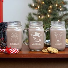 Christmas Themed Mason Jar Personalized Housewarming Giftspersonalized
