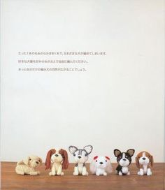a crochet book of various dogs