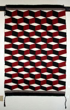 Optical illusion Navajo rug