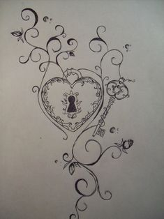Tattoo Idea! love the lock and key idea but as a couples tattoo. No names, just symbolism.