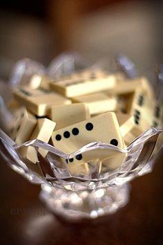 Dominoes in crystal.