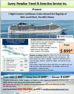 Call for more information.  Only cruise is available as well.  Call for price details. 615.785.0484