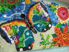 I love all things butterfly bignyc:    Roots & Wings bottle cap mural© Michelle Stitzlein