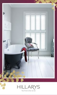 Sit back and soak in style in a modern bathroom made just for you. Shutters add elegance and style to any interior, giving a look that you'll love for years to come. Make it a Merry Christmas with bespoke window furnishings throughout your home. House, Home, Bathroom Furniture Modern, Modern House, Modern Bathroom, Home Interior Design, Bathroom Design, Beautiful Bathrooms, Tropical Bedrooms