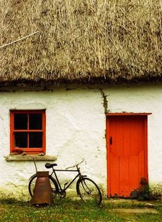 irish house/There is nothing like walking to get the feel of a country. A fine landscape is like a piece of music; it must be taken at the right tempo. Even a bicycle goes too fast. ~ Paul Scott Mowrer