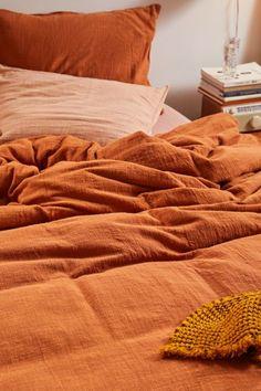 Orange Duvet Covers, 100 Cotton Duvet Covers, Orange Bedding, Bedroom Orange, Cotton Bedding Sets, Duvet Cover Sets, Linen Comforter, Burnt Orange Comforter, Orange Bed Sheets