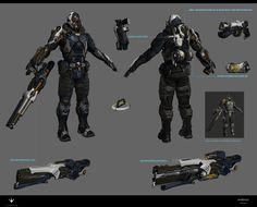 ArtStation - Paragon Character Murdock Designs, Herman Ng