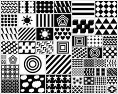 Free Printable Black & White & Red Newborn Visual Stimulation Patterns