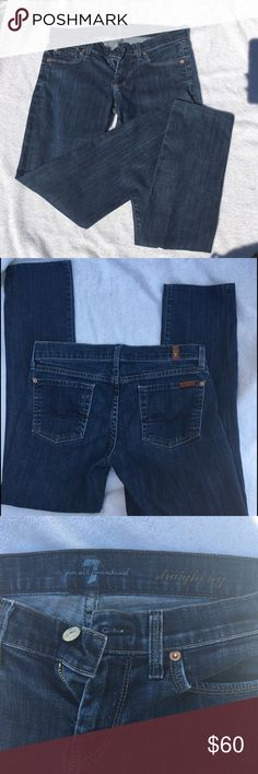 7 For All Mankind Straight Leg Jeans Size 26 7 For All Mankind Straight Leg Jeans Size 26. Feel free to ask any questions :) 7 For All Mankind Jeans Straight Leg