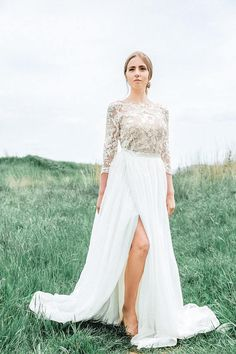 Wedding dress with detachable skirt Detachable wedding dress