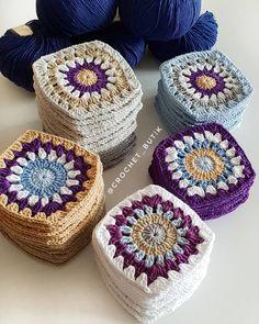 Discover Art inspiration, ideas, styles Crochet Afgans, Crochet Quilt, Crochet Blocks, Love Crochet, Crochet Blanket Patterns, Crochet Motif, Crochet Yarn, Crochet Flowers, Crochet Stitches