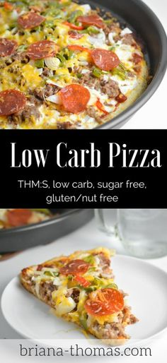 Finally, a Low Carb Pizza Crust!! THM:S, low carb, sugar free, gluten/nut free