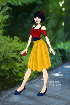 Modern Snow White ~ by dreams-to-words ~ created using the Urban Chic doll maker | DollDivine.com