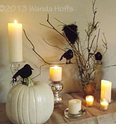 Spooky, yet elegant tablescape for your Halloween Party