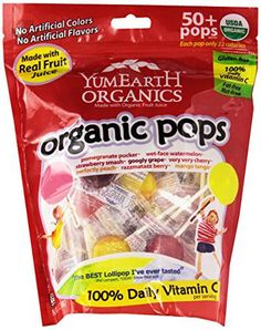 YumEarth Organic Lollipops, 12.3 Ounce Bag - http://goodvibeorganics.com/yumearth-organic-lollipops-12-3-ounce-bag/
