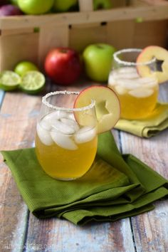 Apple Cider Margaritas: http://www.stylemepretty.com/living/2014/11/24/25-perfect-for-thanksgiving-cocktails/